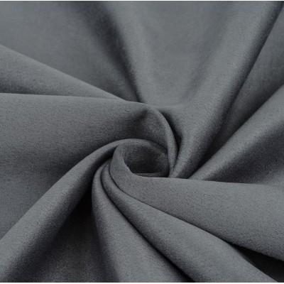 Замша искусственная, цвет стальной, 30*50 см