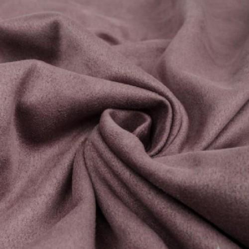 Замша искусственная, цвет темно-сиреневый, 35*75 см