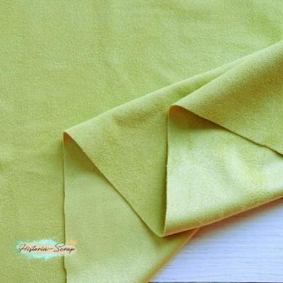 Замша искусственная двусторонняя, цвет оливковый, 50*147 см