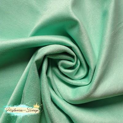 Замша искусственная, цвет мятный, 4 х 4 см