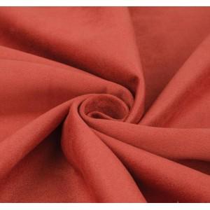 Замша искусственная, цвет терракотовый, 50*150 см