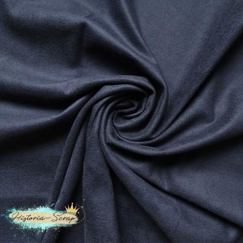 Замша искусственная двусторонняя, цвет темно-синий, 29*25 см
