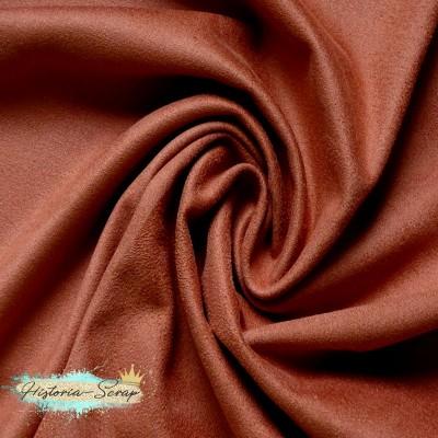 Замша искусственная, цвет кирпичный, 29*25 см