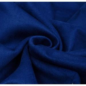 Замша искусственная, цвет синий (электрик), 30*50 см