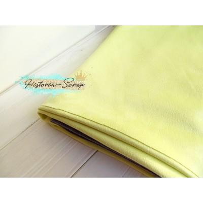 Замша искусственная, цвет светло-желтый, 4 х 4 см
