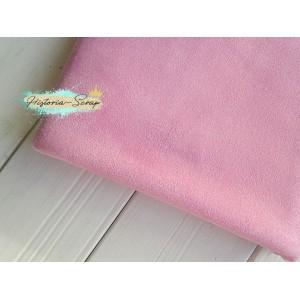 Замша искусственная, цвет светло-розовый, 30*25 см