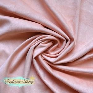 Замша искусственная двусторонняя, цвет персиковый, 29*25 см