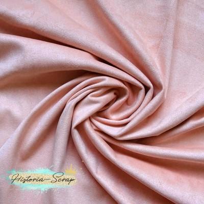 Замша искусственная двусторонняя, цвет персиковый, 29*50 см