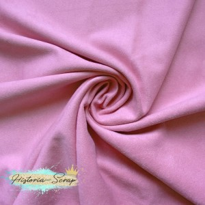 Замша искусственная (образец), цвет светло-розовый, 5 х 6 см