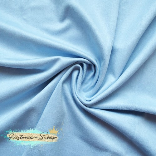 Замша искусственная, цвет голубой, 30*50 см
