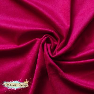Замша искусственная (образец), цвет спелая малина, 6,5*7 см
