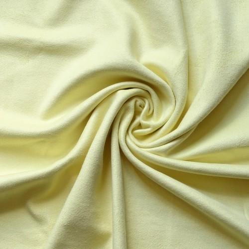 Замша искусственная, цвет светло-желтый, 49*50 см