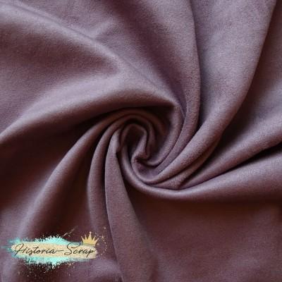 Замша искусственная, цвет пыльно-сиреневый, 50*150 (148) см