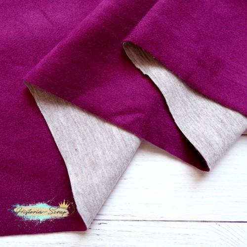 Замша искусственная, цвет пурпурное вино, 25*150 см