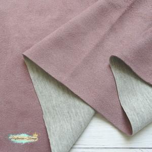 Замша искусственная, цвет пыльно-розовый, 3 х 8 см