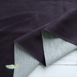 Замша искусственная, цвет баклажан, 50*150 см