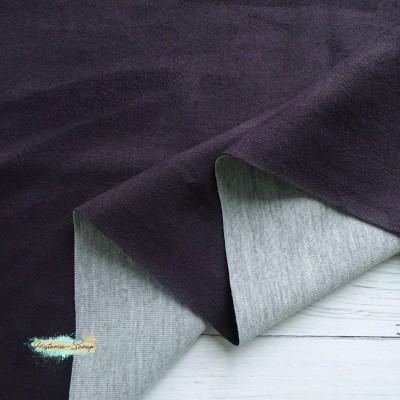 Замша искусственная, цвет баклажан, 25*37 см
