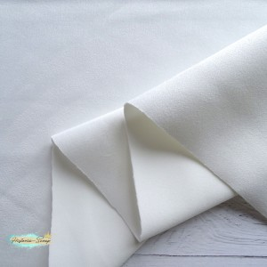 Замша искусственная, цвет белый, 25*150 см