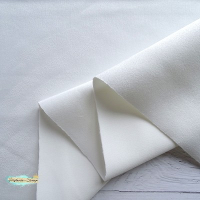Замша искусственная, цвет белый, 25*37 см