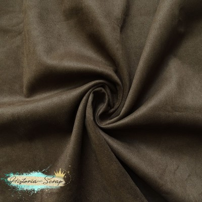 Замша искусственная, цвет шоколад, 25*29 (30) см
