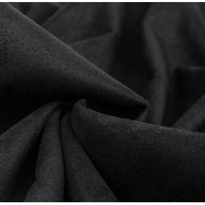 Замша искусственная, цвет черный, 30*25 см