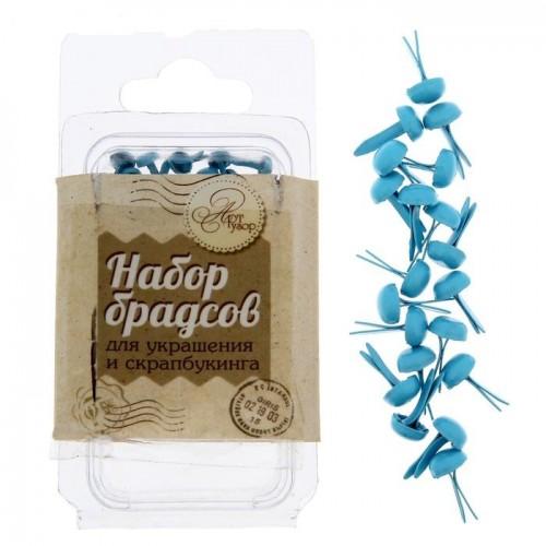 Набор брадсов «Морской», цвет голубой, 20 шт, 4 х 9 мм
