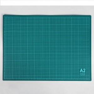 Коврик самовосстанавливающийся для резки, формат А2, цвет серо-зелёный