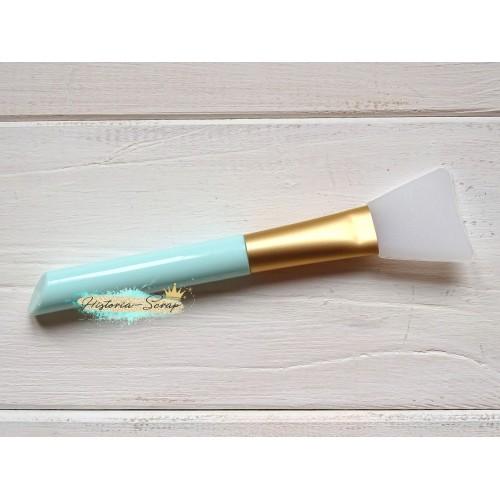 Кисть силиконовая для клея, цвет ручки - голубой, 3,2 х 13,8 см