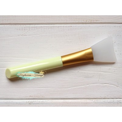 Кисть силиконовая для клея, цвет ручки - светло-желтый, 3,2 х 13,8 см