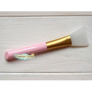 Кисть силиконовая для клея, цвет ручки - светло-розовый, 3,2 х 13,8 см