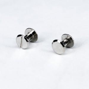 Винты для установки кольцевых механизмов (С ТРИГГЕРОМ), диам. ножки 3,8 мм, выс. 8 мм, цвет серебро, 2 шт