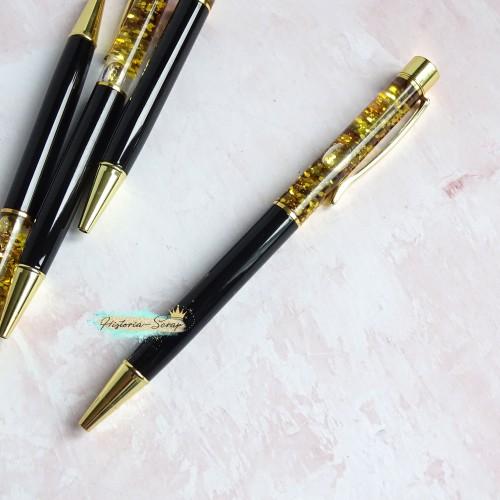 """Ручка шариковая """"Premium Aqua"""", цвет черный+золото"""