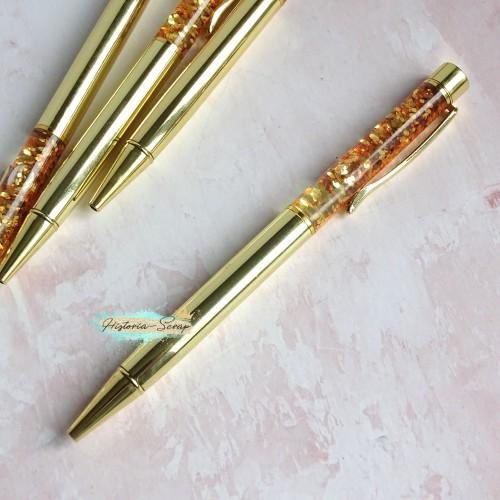 """Ручка шариковая """"Premium Aqua"""", цвет золото"""