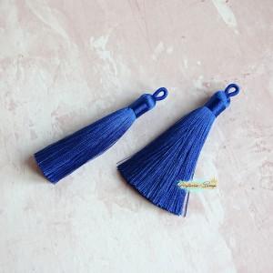 Подвеска-кисточка на петельке, цвет королевский синий, 8см