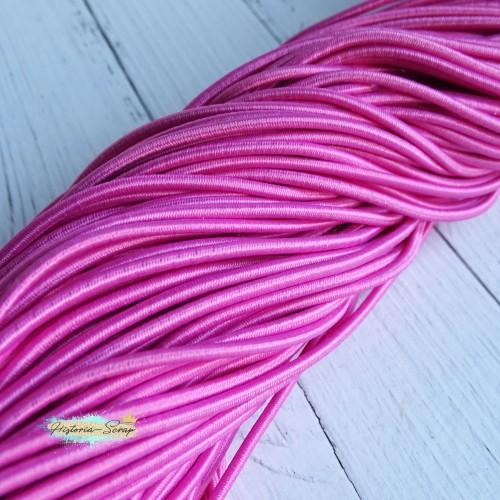 Резинка шляпная, цвет розовый, 2,8 мм