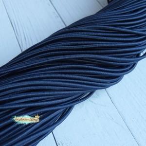 Резинка шляпная, цвет темно-синий, 2,8 мм