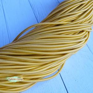 Резинка шляпная, цвет желтый, 2,8 мм