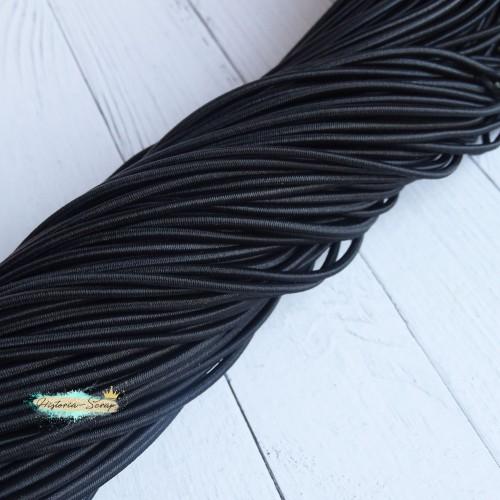 Резинка шляпная, цвет черный, 2,8 мм