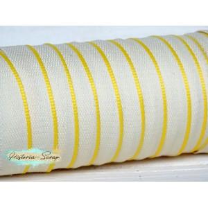 Каптал ПЭТ белый с желтой окантовкой, 16 мм, 55 см