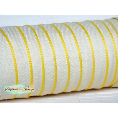 Каптал ПЭТ белый с желтой окантовкой, 16 мм