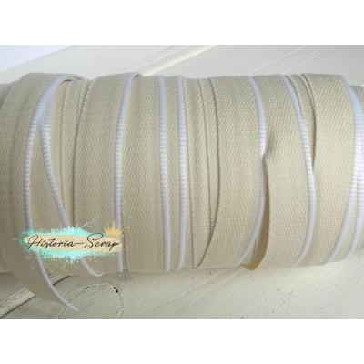 Каптал ПЭТ бежевый с белой окантовкой, 16 мм