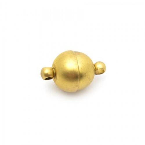 Замок магнитный, цвет золото, диам. 10 мм, 1 полусфера = 1/2 шт