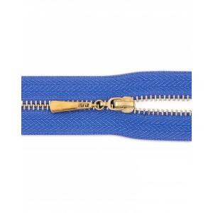 Молния неразъемная Т3 золото, 20 см, цвет синий
