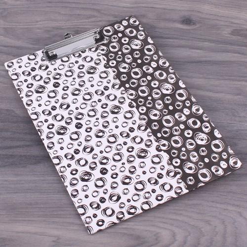 Планшет картонный А4 Геометрия, цвет черно-белый, 1 шт