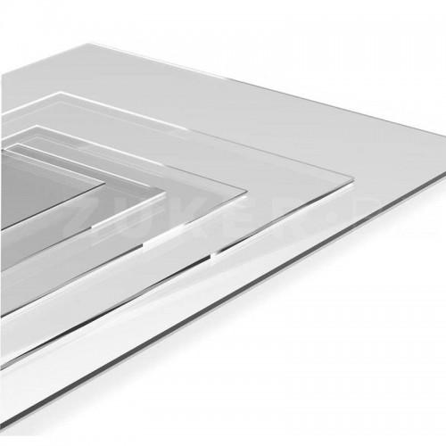 Пластик прозрачный с защитной пленкой, 30 х 30 см, толщ. 0,5 мм