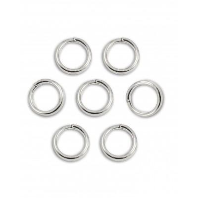 Кольцо соединительное для бижутерии, диам. 4 мм, цвет серебро, 2 шт