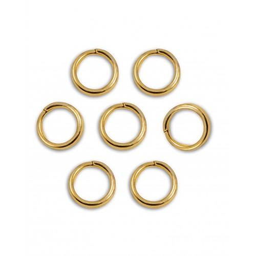 Кольцо соединительное для бижутерии, диам. 4 мм, цвет золото, 2 шт