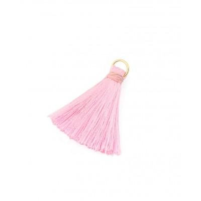 """Подвеска декоративная """"Кисть"""", цвет розовый, длина 3,5 см, 1 шт"""