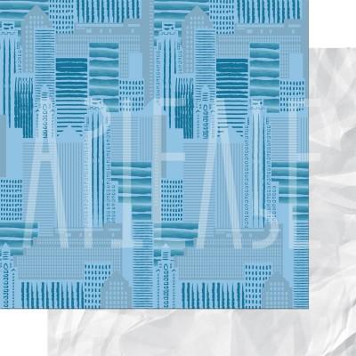 Бумага двусторонняя 30 x 30 см Гулять по крышам из коллекции ФОНОteka II