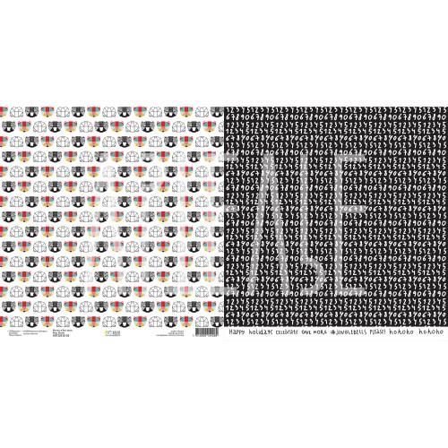 """Бумага двусторонняя 30 x 30 см """"Маска, я вас знаю"""" из коллекции """"ZIMAлогия"""""""